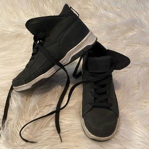 Other - Boys suede black high top sneakers